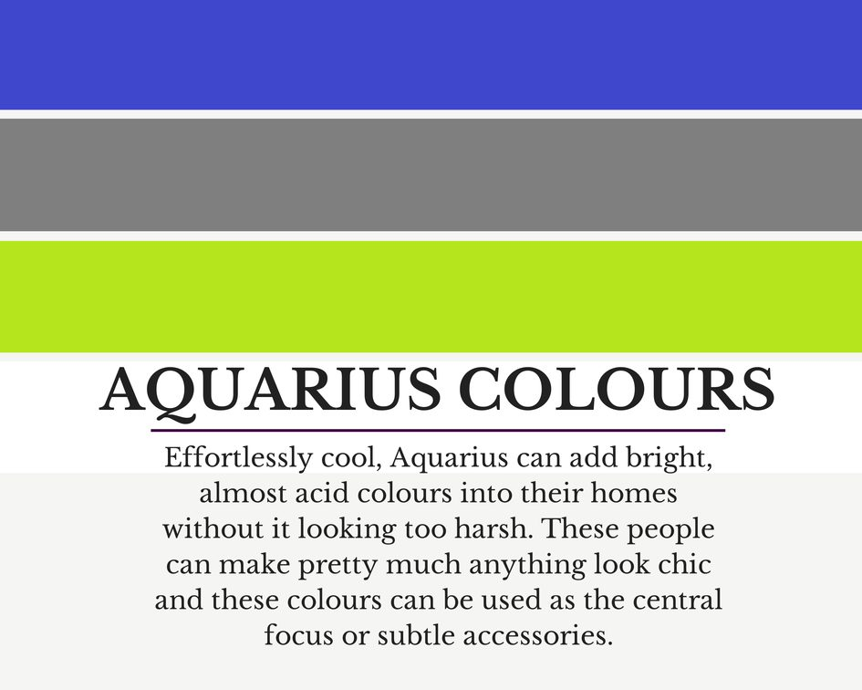 Aquarius colours