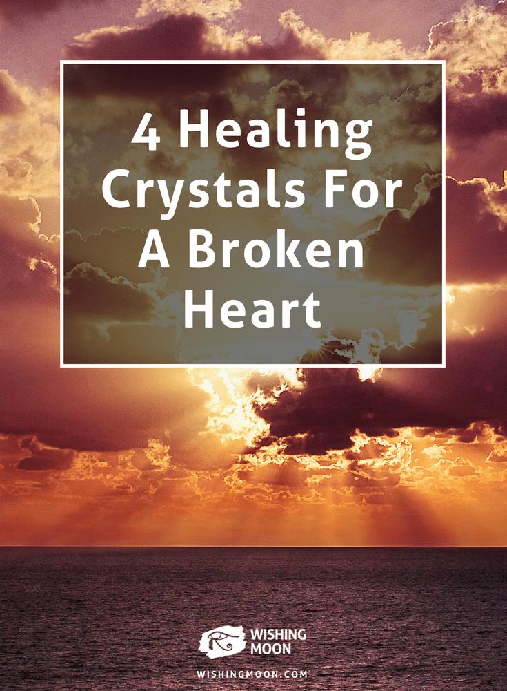 4 cristaux de guérison pour un cœur brisé