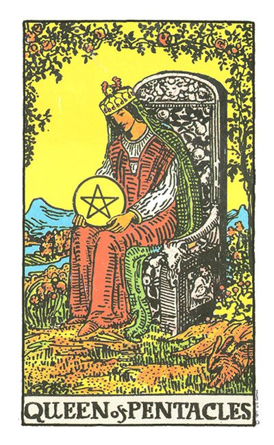 The Original Rider Waite Tarot Queen of Cups