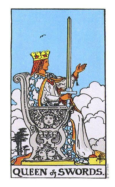 (The Original Rider Waite Tarot Queen of Swords)