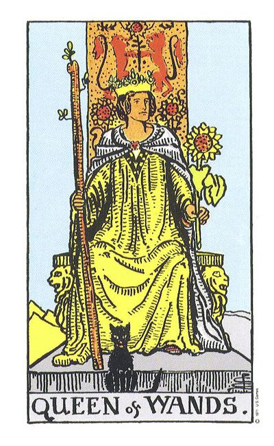 The Original Rider Waite Tarot Queen of Wands