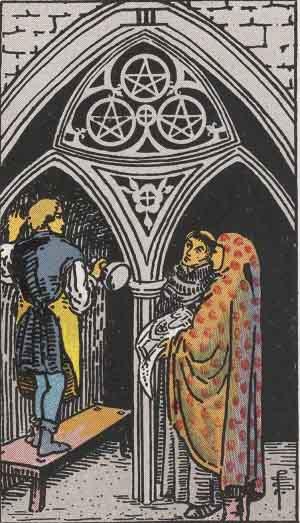 Rider-Waite Tarot Card Deck- 3 of Pentacles
