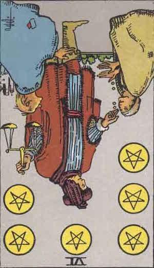 Rider-Waite Tarot Card Deck- 6 of Pentacles