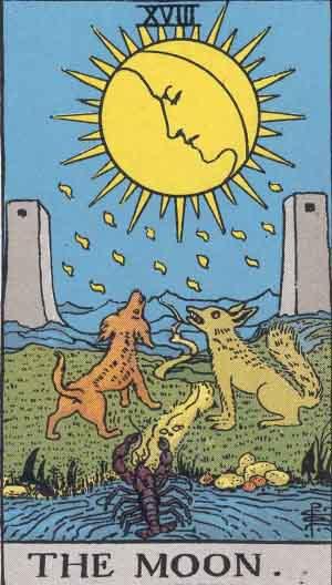 Rider-Waite Tarot Card Deck- The Moon