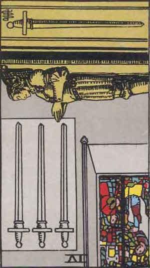 Rider-Waite Tarot Card Deck- 4 of Swords