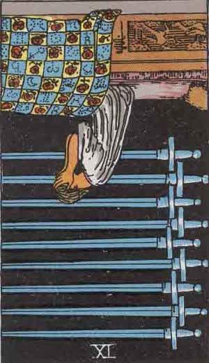 Rider-Waite Tarot Card Deck- 9 of Swords