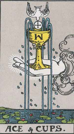 Ace of Cups Upright