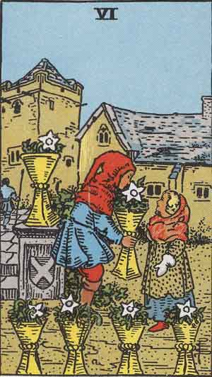 Six of Cups Upright