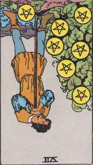 Seven of Pentacles Reversed