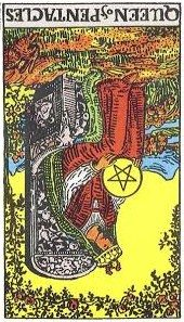 queen pentacles