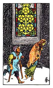 five pentacles upright